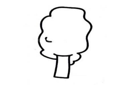 可爱简单的大树简笔画
