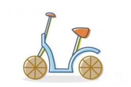 简单的儿童简笔画自行车
