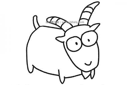 六张卡通山羊简笔画图片