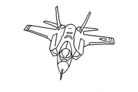 战斗机简笔画大全 闪电II