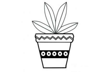 简单的小盆栽简笔画