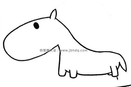 四步学画可爱的小马