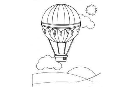 热气球简笔画大全