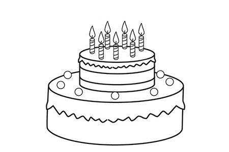 双层蛋糕简笔画图片