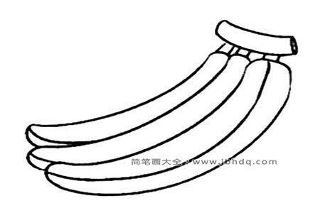 超简单香蕉简笔画