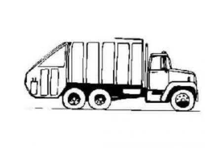 自卸车简笔画图片