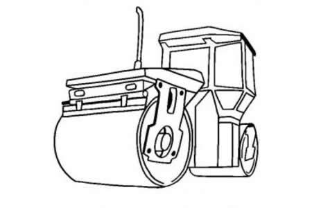 工程车图片 蒸汽压路机简笔画