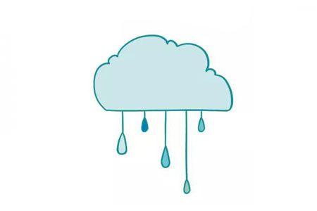 雨云简笔画图片