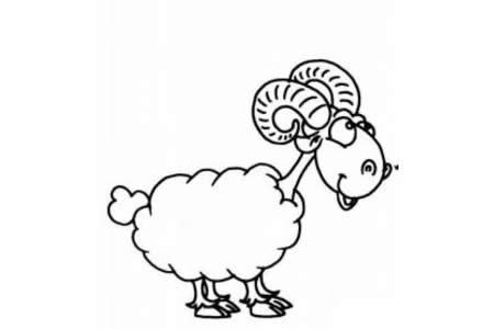 小学生山羊简笔画图片