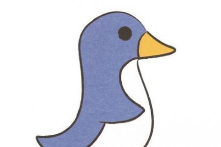 超简单企鹅简笔画