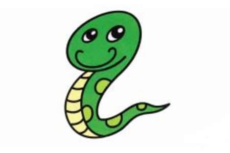小蛇的简笔画画法