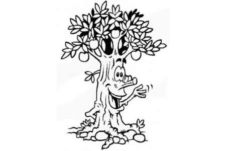 简笔画大全 果树简笔画图片