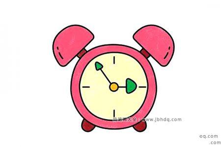 学画粉色闹钟