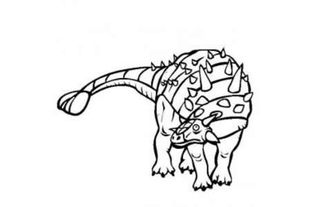 恐龙图片大全 包头龙简笔画图片