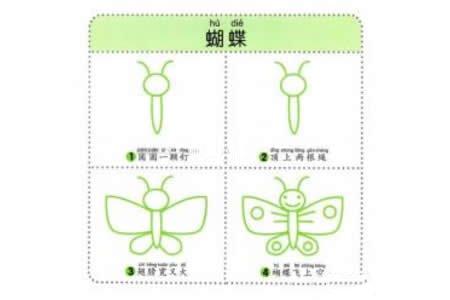 蝴蝶简笔画教程