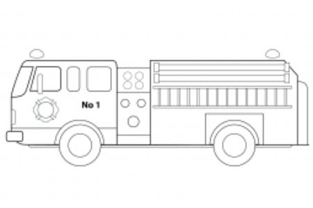 消防车的简单画法