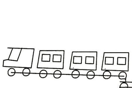 火车简笔画大全及画法步骤