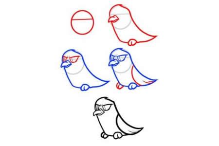小鸟简笔画大全 乌鸦简笔画教程