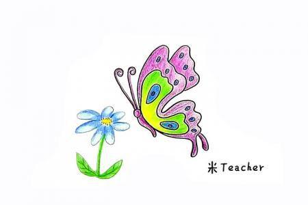 漂亮的蝴蝶简笔画教程