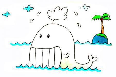 怎么画鲸鱼