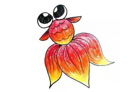 大眼金鱼怎么画