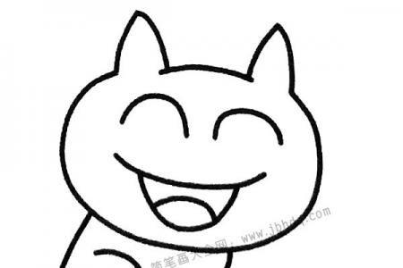笑哈哈的猫咪