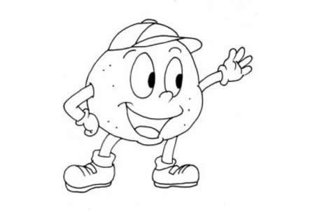 卡通蔬菜简笔画 卡通土豆简笔画