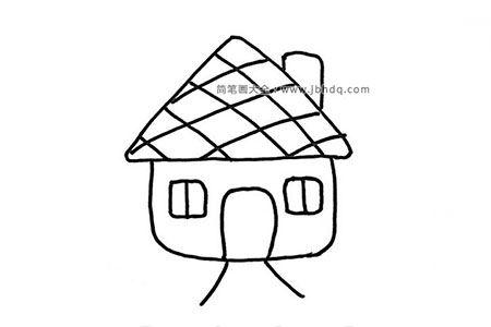 6张漂亮的小房子简笔画图片