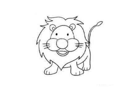 威武的狮子简笔画图片
