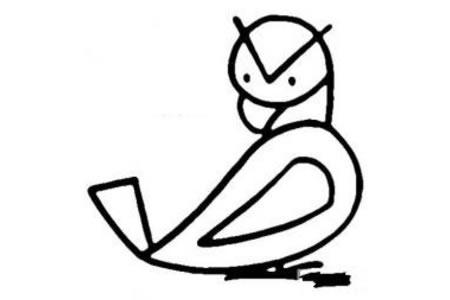 老鹰的简笔画画法