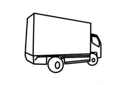 高箱货车简笔画