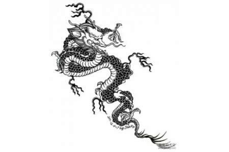 龙的简笔画 中国龙简笔画
