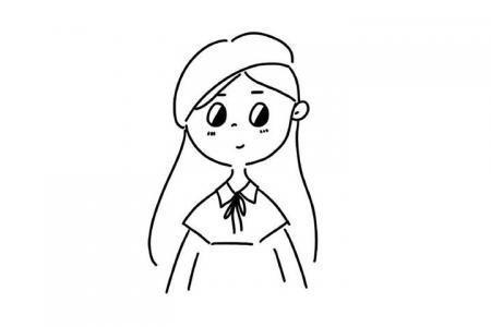 简单线条人物小头像简笔画