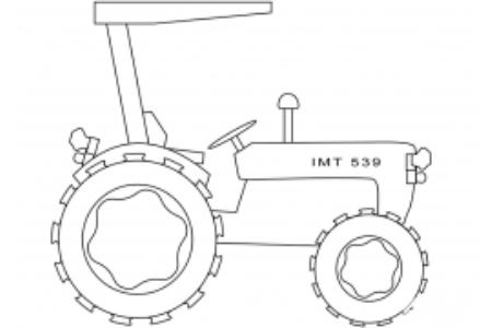 简单的拖拉机画法