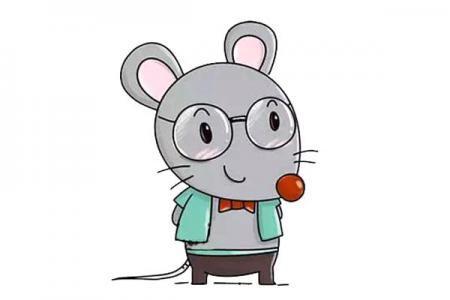 戴眼镜的小老鼠