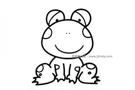 卡通青蛙简笔画图片