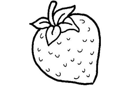 超简单草莓画法