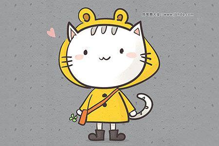 卡通小猫简笔画图片