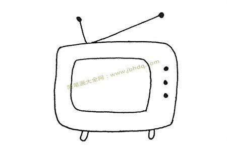 三张电视机的简笔画图片