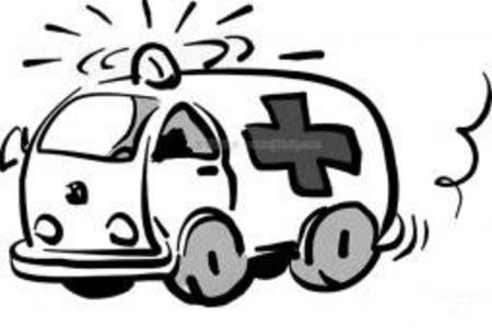 紧急的救护车简笔画