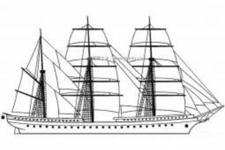 儿童轮船简笔画图片