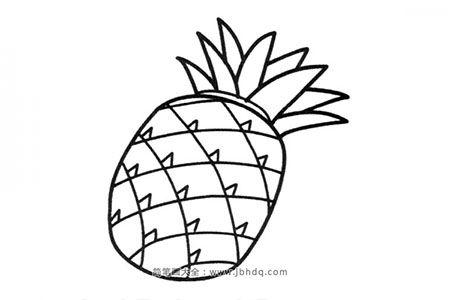 简笔画图片菠萝