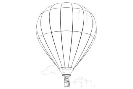 如何画热气球