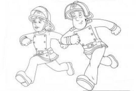 人物简笔画大全 消防员简笔画