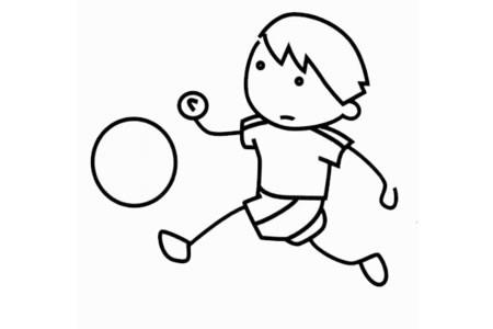 足球运动员怎么画