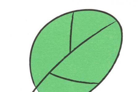 学画简单的树叶