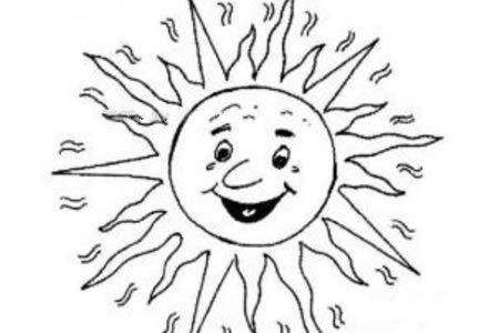 火热的太阳简笔画图片