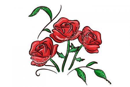 情人节来画玫瑰花