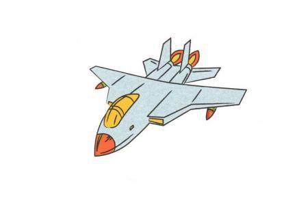 战斗机怎么画