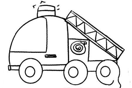 Q版交通工具 消防车